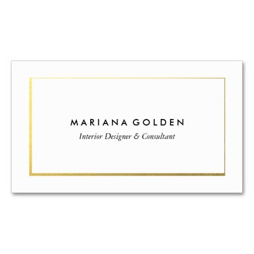 Gold Border On White Business Card Template Makeup Artist Business Cards Templates White Business Card Artist Business Cards