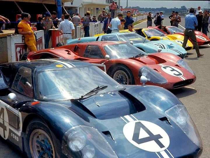 Lemans 1967 Ford Mk4 The Fleet Ford Racing Ford Gt40 Le Mans