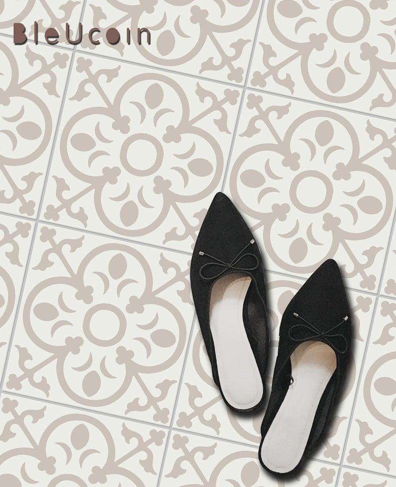 Bordeaux Tile Wall Stair Floor Self Adhesive Vinyl Etsy Flooring For Stairs Tile Decals Bathroom Backsplash