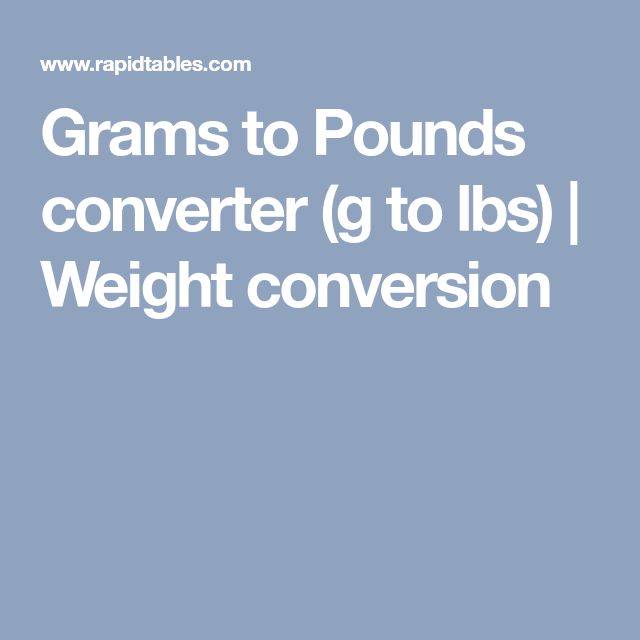 Grams To Pounds Converter G To Lbs Weight Conversion Baking
