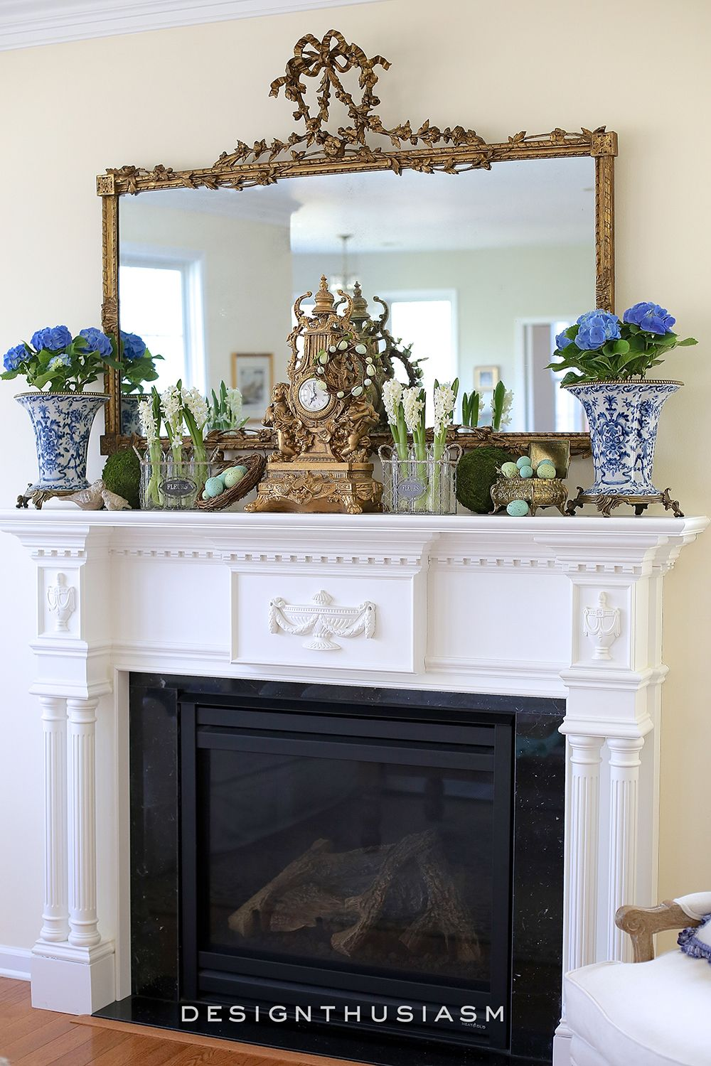 Spring Mantel In The Family Room Hometalk Styles French