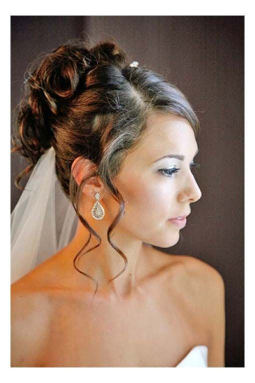 Hairstyles For Brides Amazing Hairstyles Bridal Hairstyle All Up Side Part Curls With Tendrils