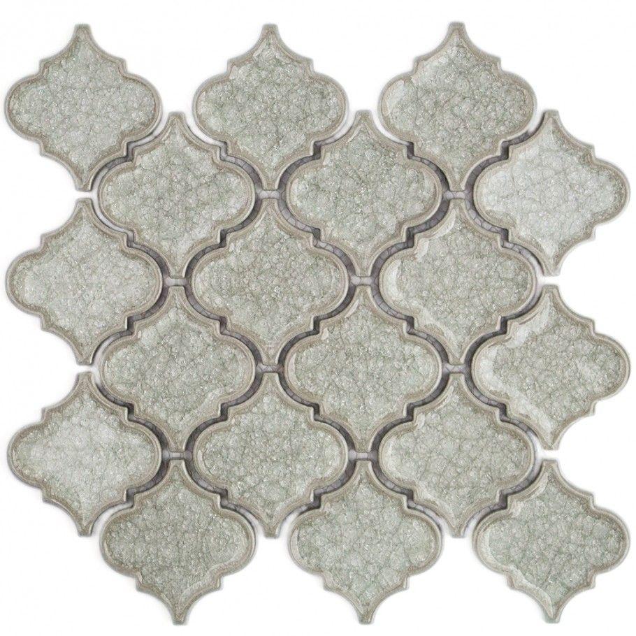 Roman Frosty Morning Arabesque Glass Tile   Roman   Glass Collections  (kitchen Backsplash)
