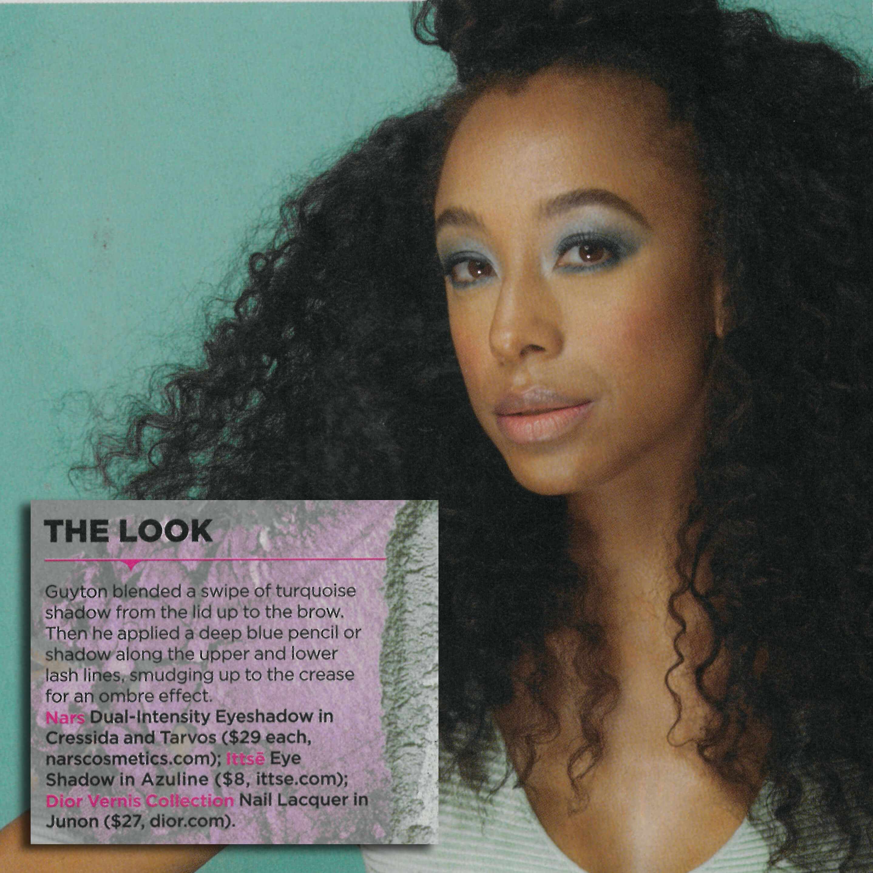 Peep the #June issue of @Essence Magazine featuring the stunning @corinnebaileyrae rocking our #Azuline #eyeshadow. @frankguyton worked his magic with this cool and alluring aqua. #mua #beautyblogger #essence #makeup