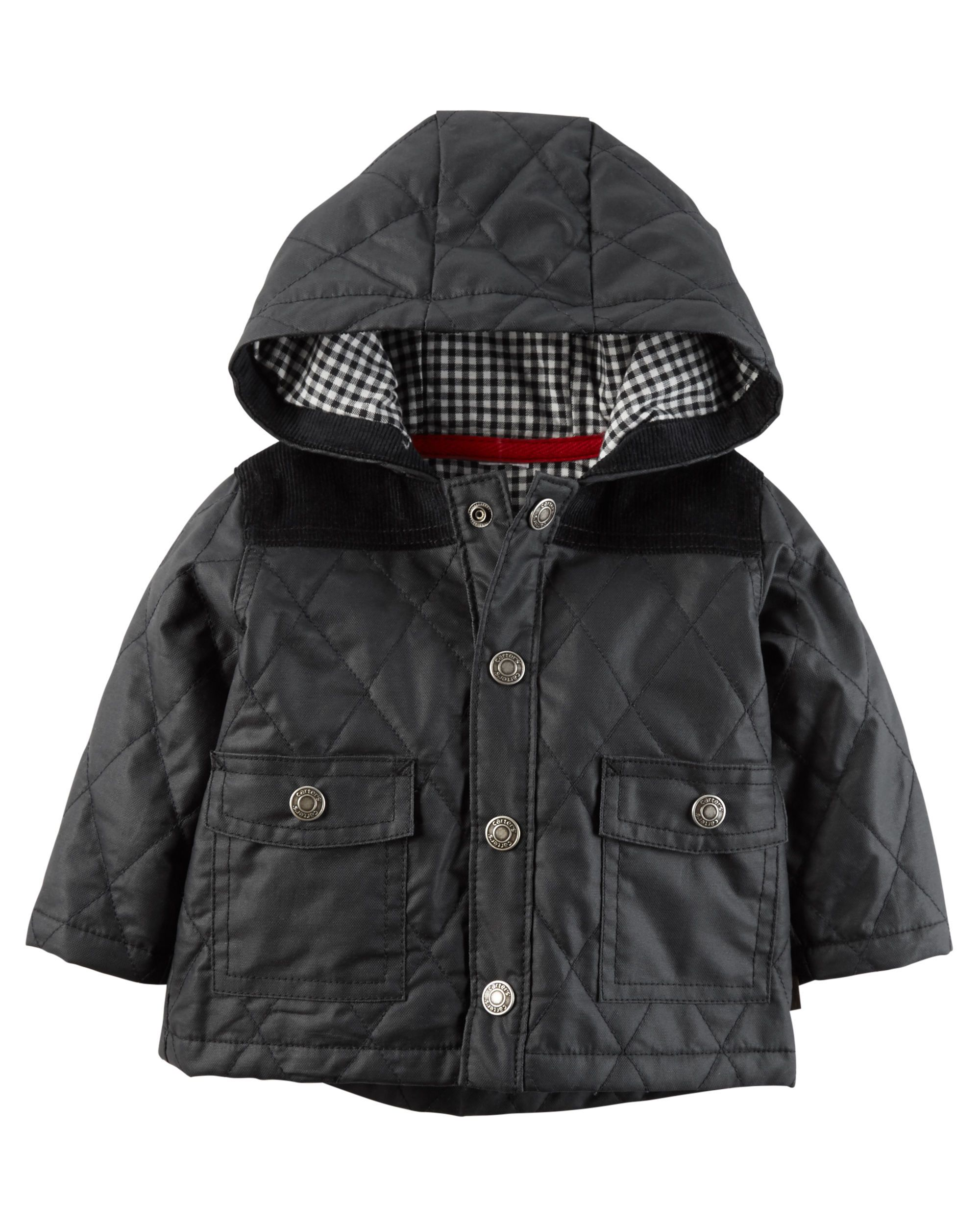 The Perfect Finishing Piece For Any Outfit This Quilted Cardigan Jacket Keeps Him Warm On Brisk Fall Mornin Boys Quilted Jacket Carters Baby Boys Carters Baby