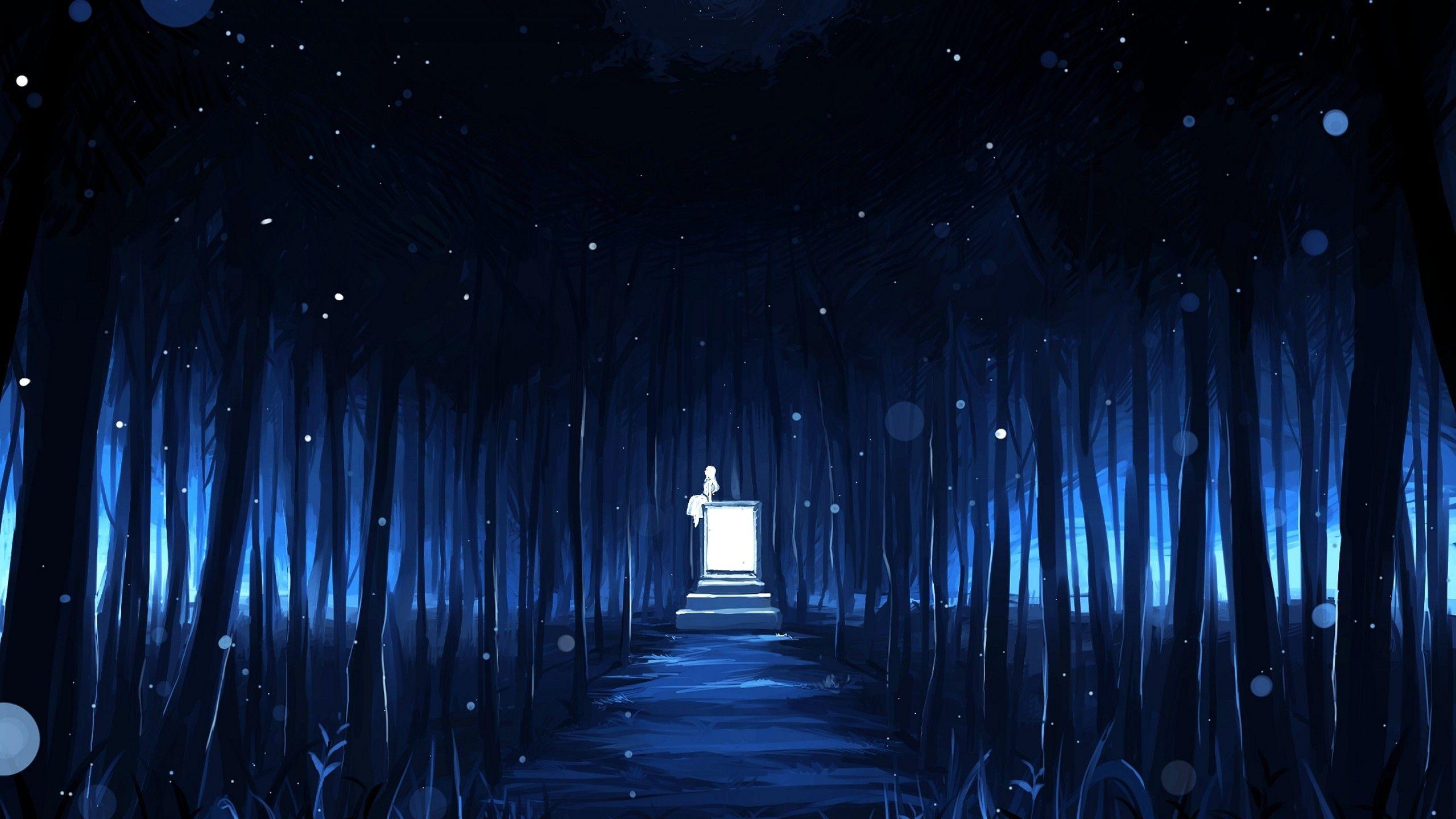 2560x1440 Wallpaper Anime Dark Landscape Landscape Wallpaper Scenery Wallpaper