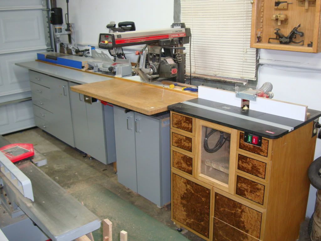 Radial Arm Saw Work Station Workshop Ideas Pinterest