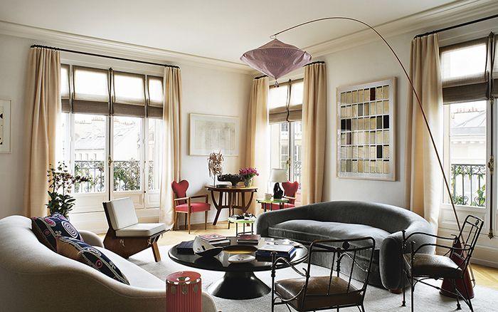 Les plus beaux interieurs de décorateurs à Paris Living rooms