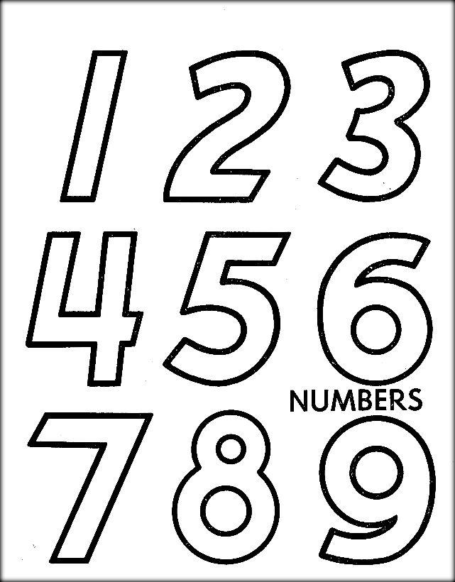 Free 123 Kids Coloring Printable Pages | Lettrage et Lettre a