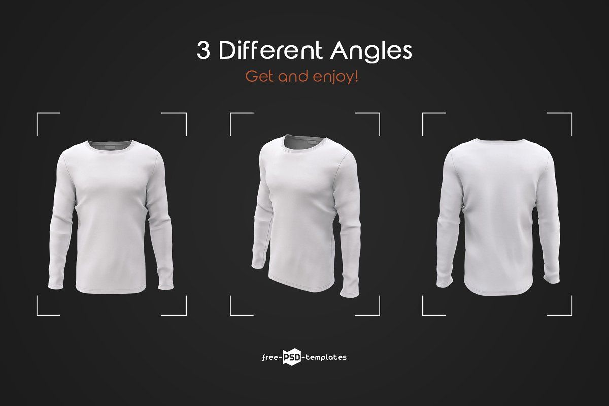 Download Mens Long Sleeve T Shirts Mockup Set Shirt Mockup Men S Long Sleeve T Shirt Long Sleeve Tshirt