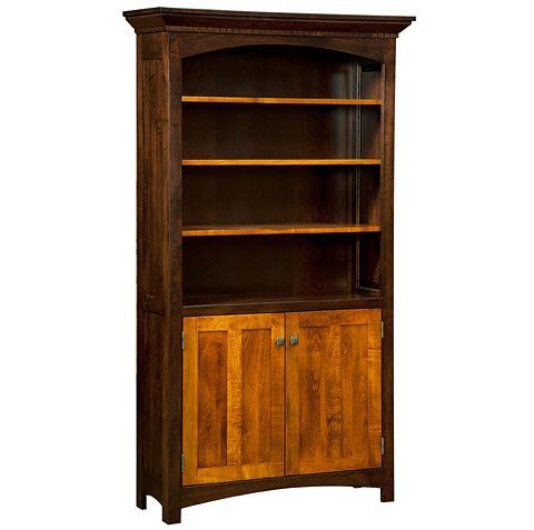 Awesome Amish Made Solid Wood Lakewood Cabinet Bookcase