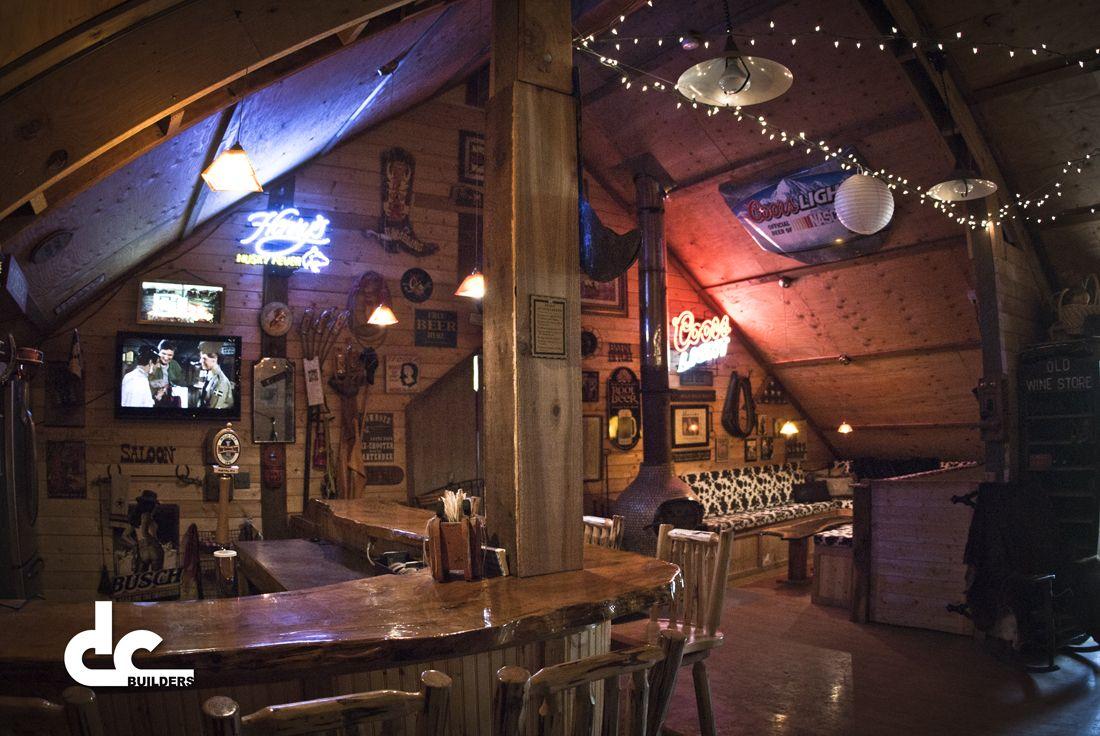 Custom Barn With Upstairs Bar  Born in a Barn  Pole barn homes Pole barn designs Man cave loft