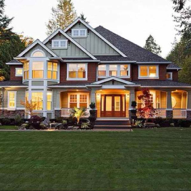 Home With A Semi Wrap Around Porch This Is Beautiful If That Porch Goes Around To The Back Of The House Th My Dream Home House Exterior Craftsman House Plans