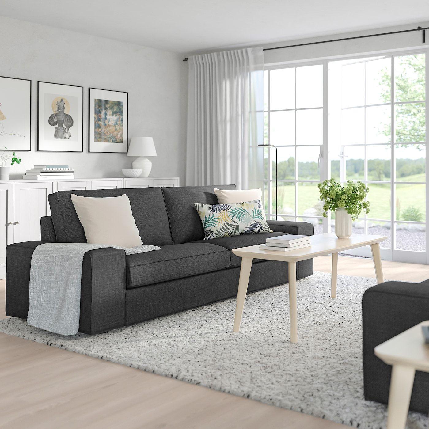 IKEA KIVIK Sofa Hillared anthracite in 2020 Ikea vimle