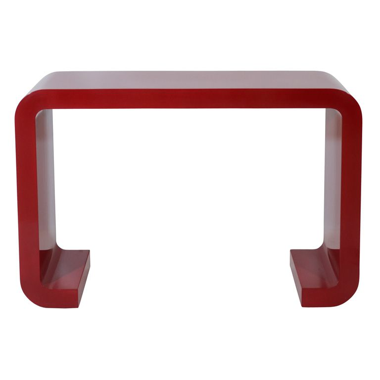 Modern Console Table Red Lacquered Console Table Http Www Bocadolobo Com En Consoletableideas Modern Console Tables Steel Console Table Console Table