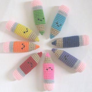 CROCHET MODELLI N gioco: gratuito crochet modello: Matite colorate