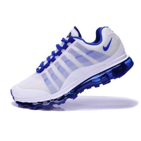 Mens Nike Air Max 95+360 Sneakers WhiteRoyal Blue MX 385