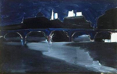Nicolas de Staël - Pont des Arts at Night, 1954.