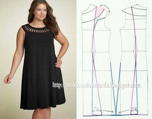 Patrón gratis: vestido fácil y elegante (todas las tallas