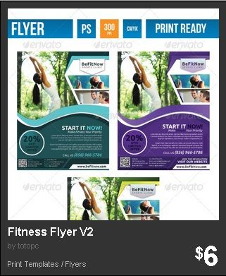 Fitness Flyer Version 2 - Multi-purpose Fitness Flyer is a design - fitness flyer