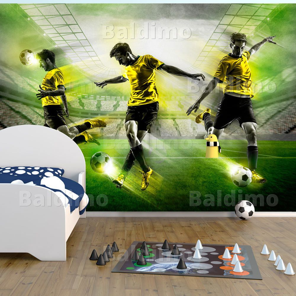 details zu fototapete fu ball vlies tapete sport wandbilder wandtapete stadion 10110902 8 in. Black Bedroom Furniture Sets. Home Design Ideas