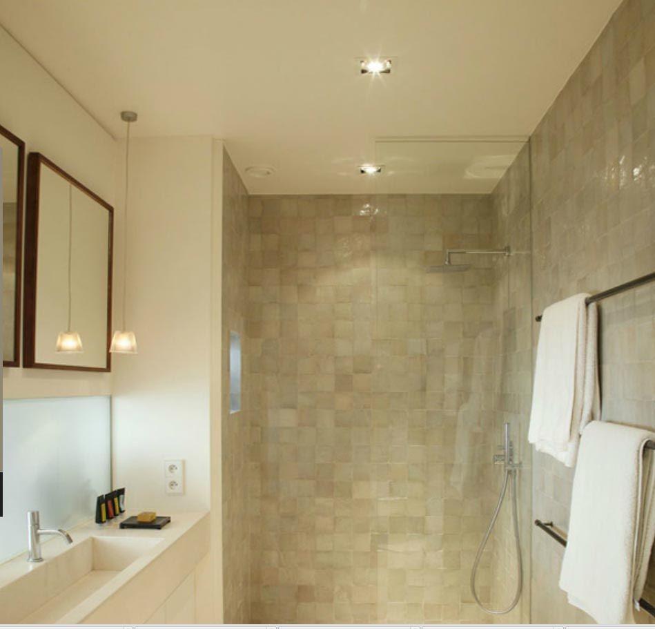naturel tinten in de badkamer bathroom pinterest zolder
