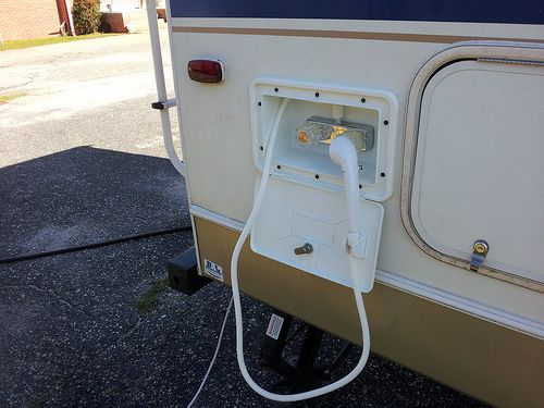 Adding an Outdoor Shower to an RV by wakworld, via Flickr
