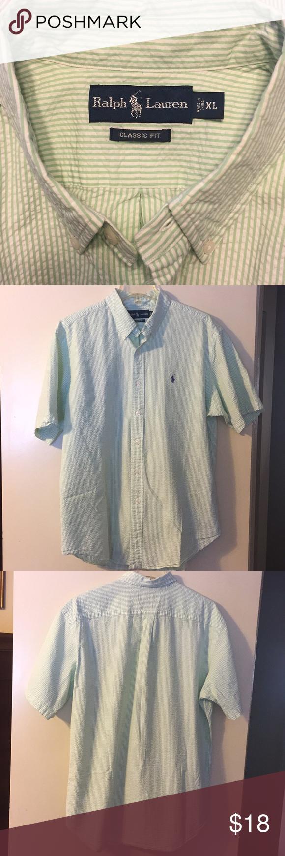 Ralph Lauren Seersucker Shirt This Is A Short Sleeve Ralph Lauren