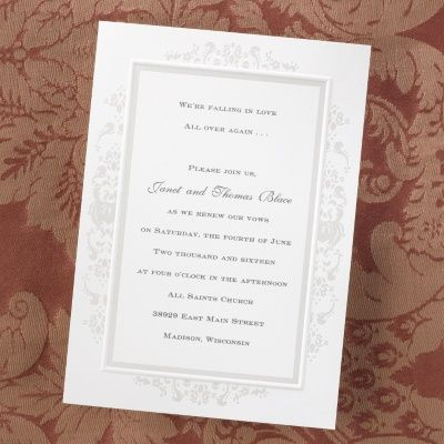 Pearl Embossed Border   Invitation   Bright White | Carlson Craft Wedding U0026  Stationery Products.