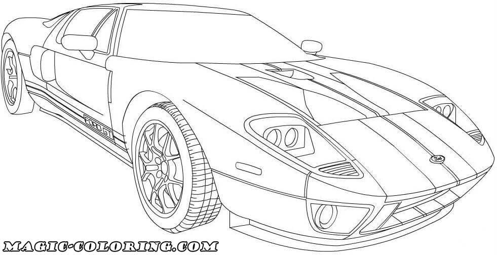 2006 Ford Gt Coloring Page Coloring Pages Cartoon Coloring Pages Sports Coloring Pages