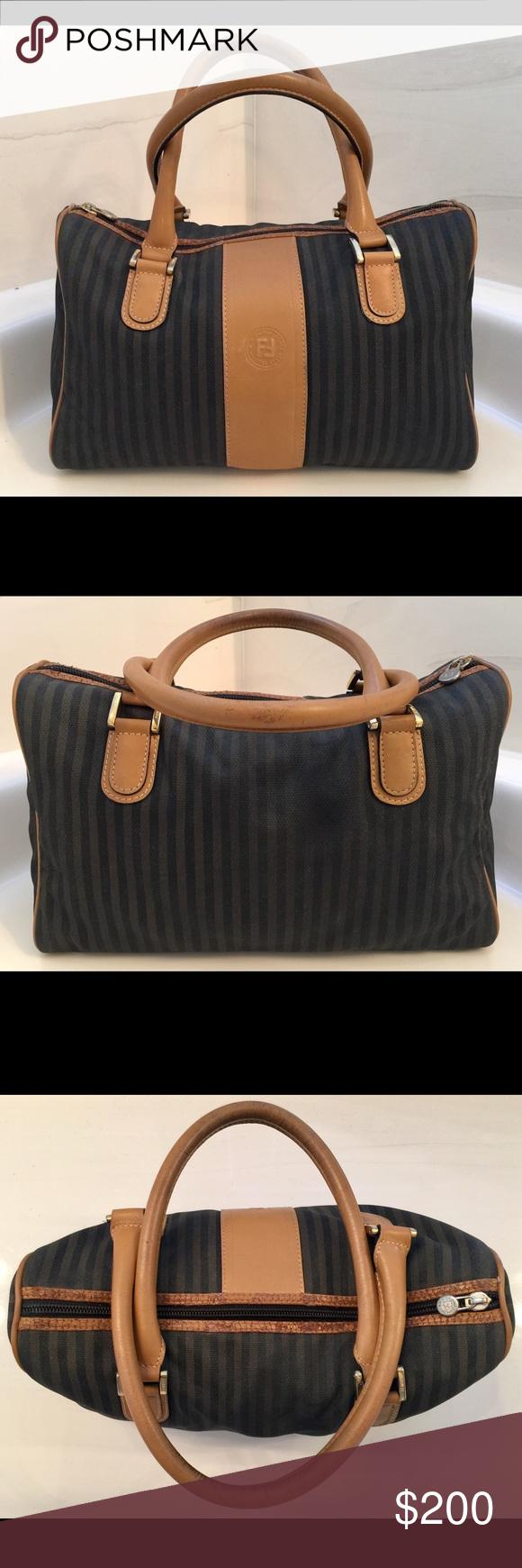 ... shop authentic fendi handbag bowling bag purse bag vintagebefore 1980s  d6cd4 0fd1e ... b559817298