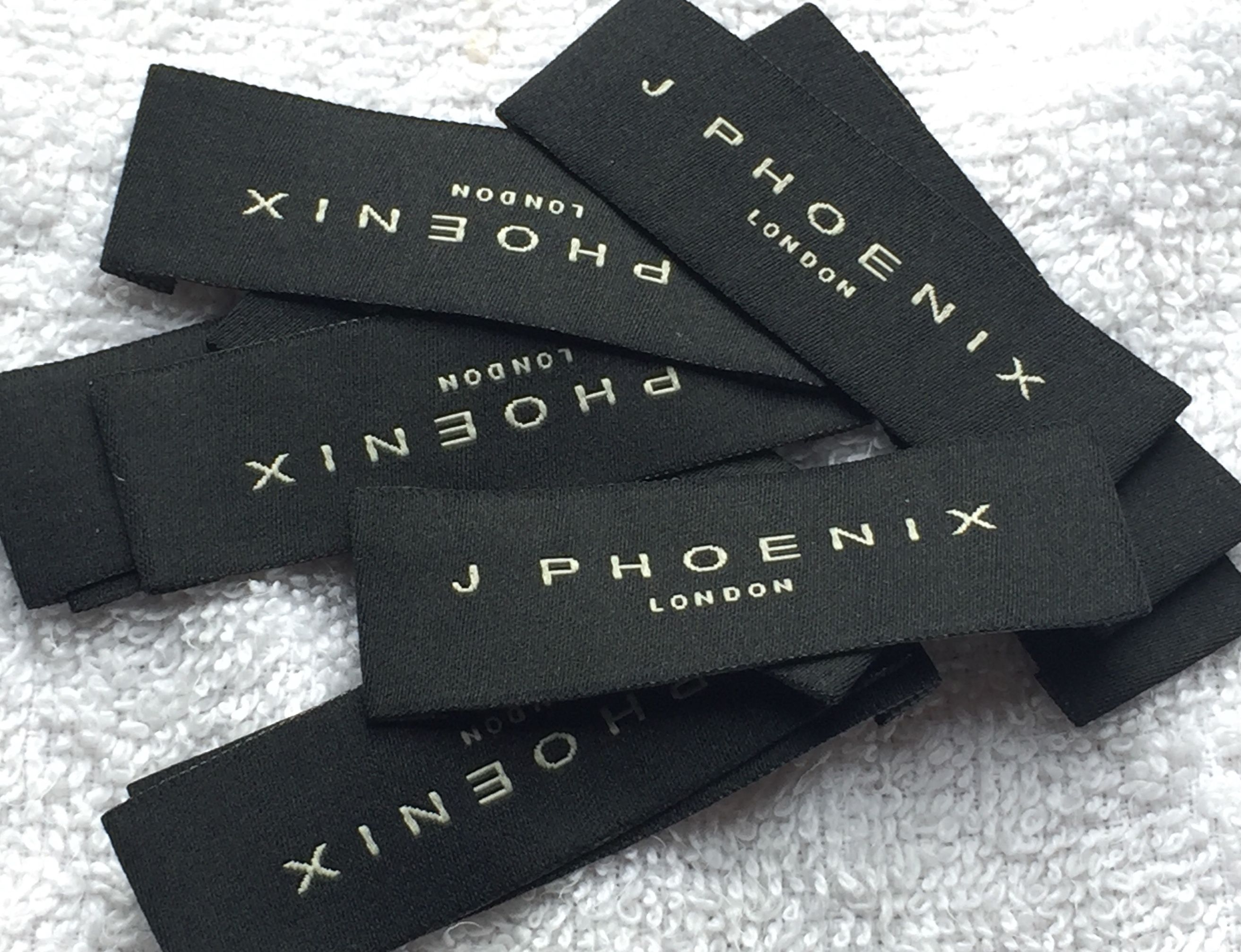 Woven Labels UK in 12  Clothing labels design, Fabric labels