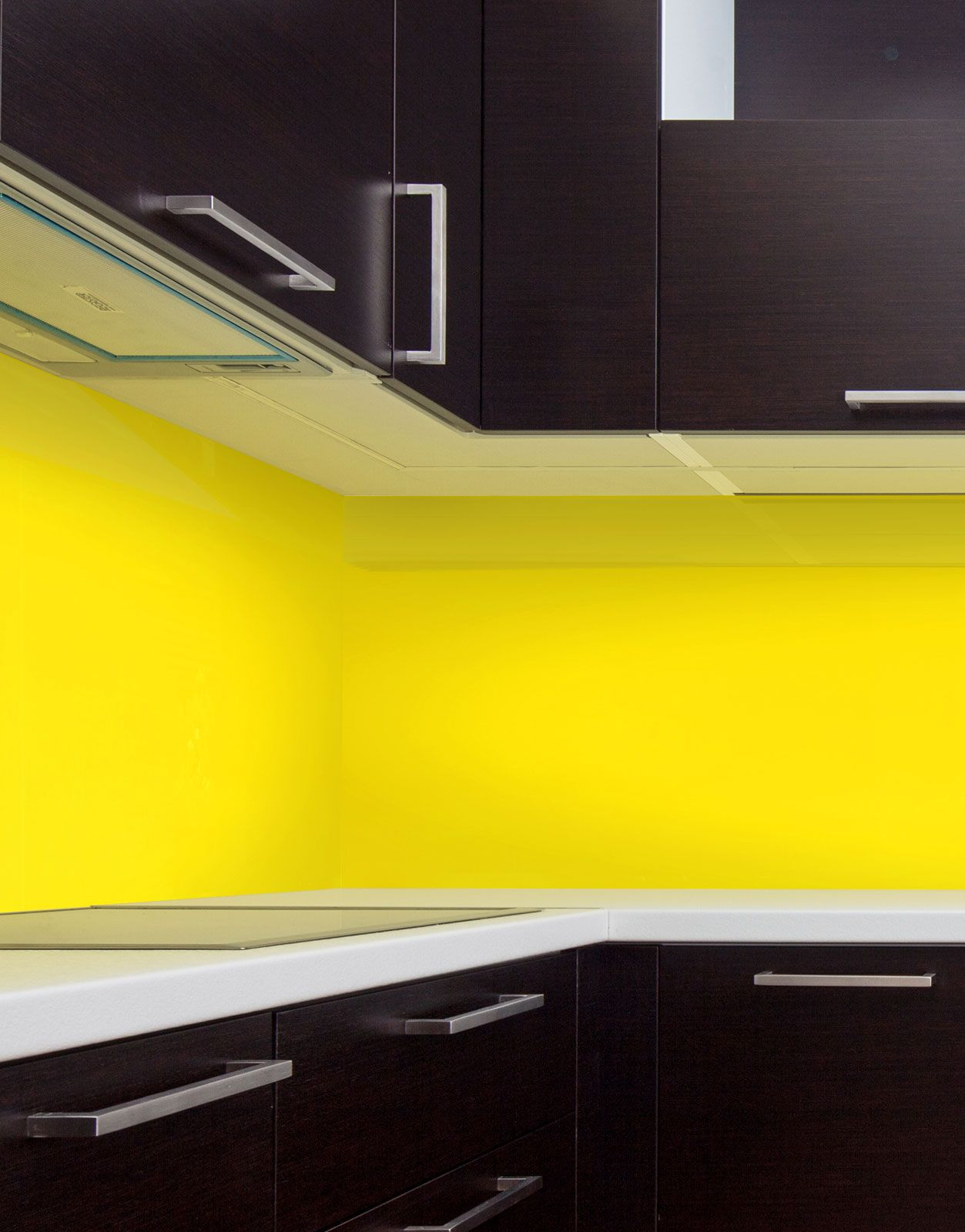 lemon yellow m acrylic kitchen splashback kitchen pinterest