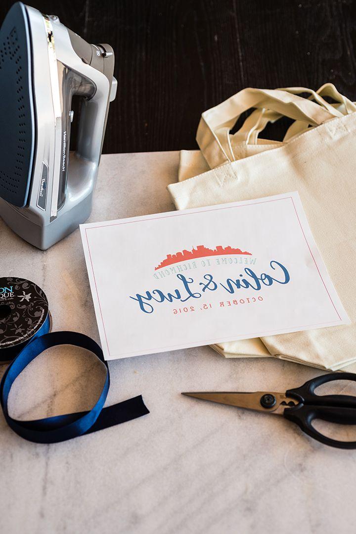 Diy wedding ironon transfer bags durathon