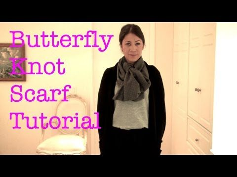 The Daily Connoisseur: Butterfly Knot Scarf Tutorial (2 Ways)
