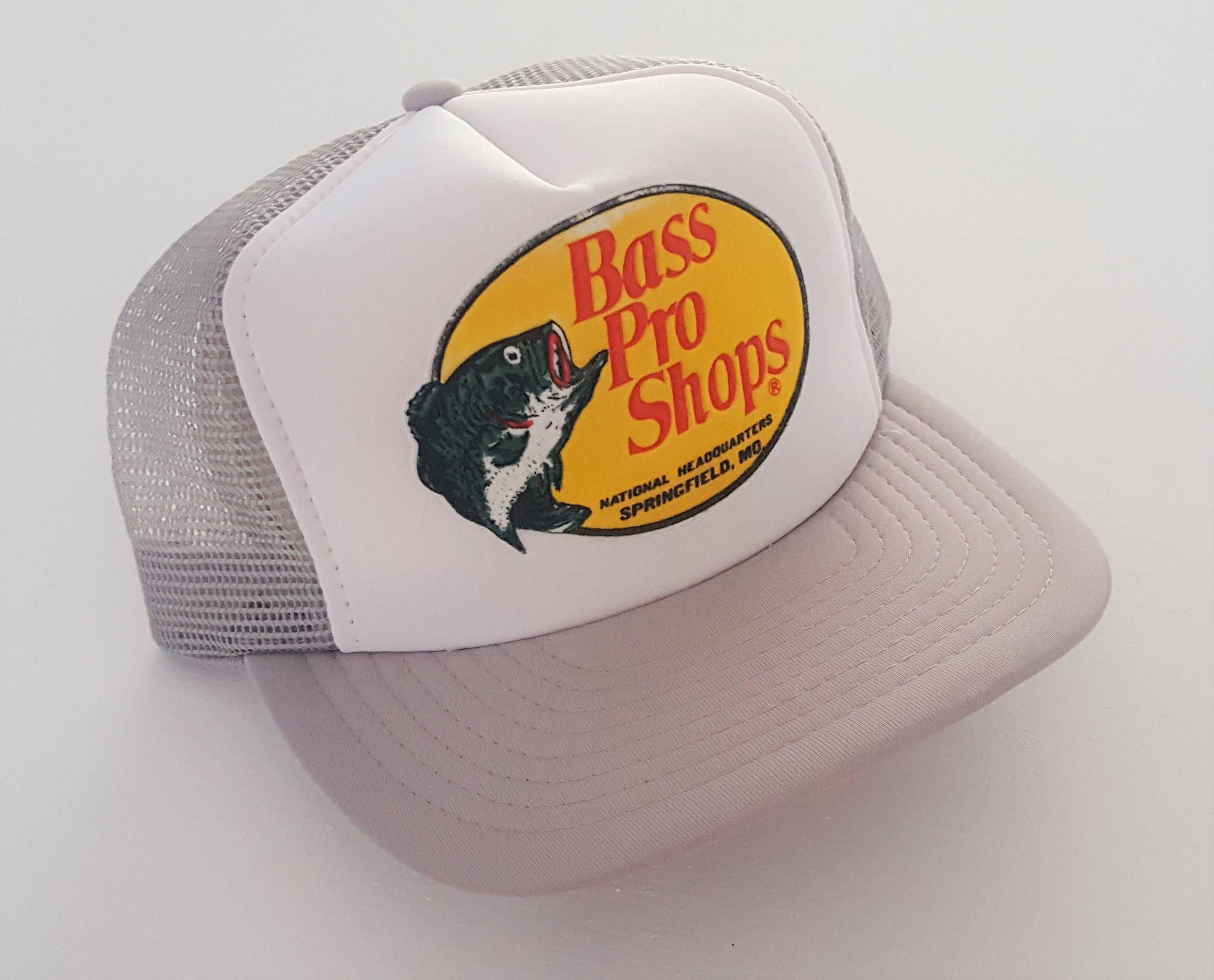 Vintage Bass Pro Shops Trucker Style Snapback Hat Vtg Bass Pro Shop Hat Hats Vintage Bass