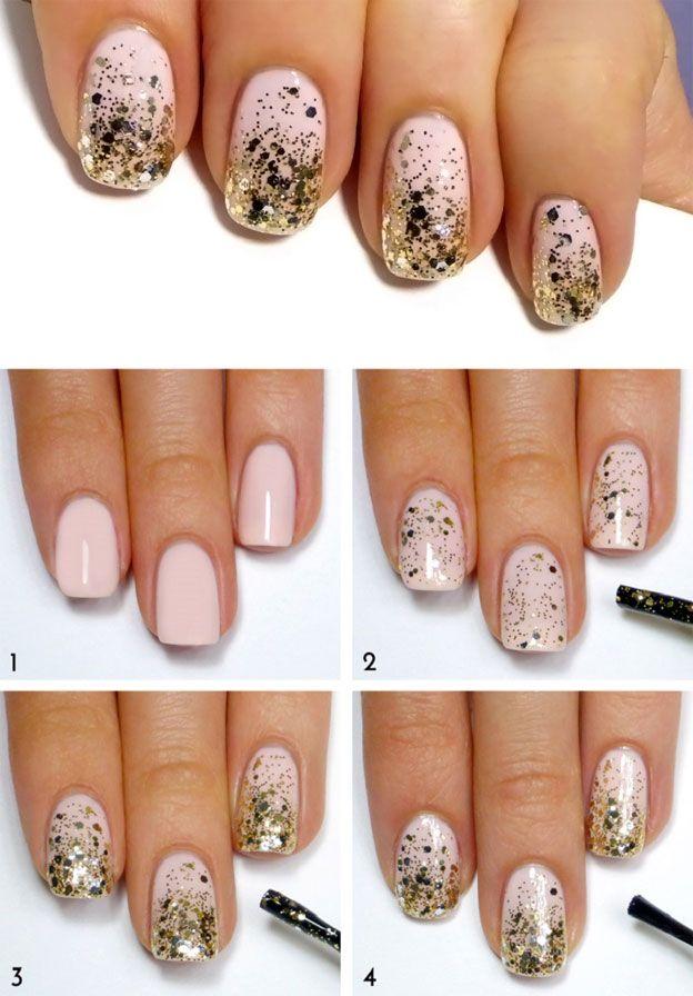 Уроки по наращивание ногтей с блестками