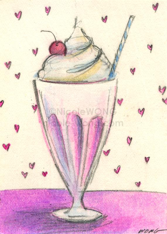 Strawberry Milkshake Artbuki Milye Risunki Legkie Risunki,Cooking Chestnuts On Open Fire