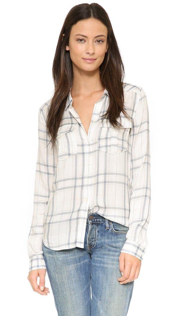 Paige Denim Mya Shirt - White/Duky Blue/Rose Tan