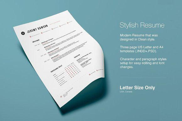 Stylish Resume by Design by Mike Kondrat on @mywpthemes_xyz | Best ...