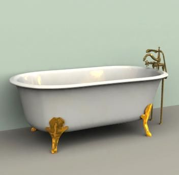 dollhouse furniture clawfoot bathtub   Clawfoot Tub with Gold and Brass. dollhouse furniture clawfoot bathtub   Clawfoot Tub with Gold and