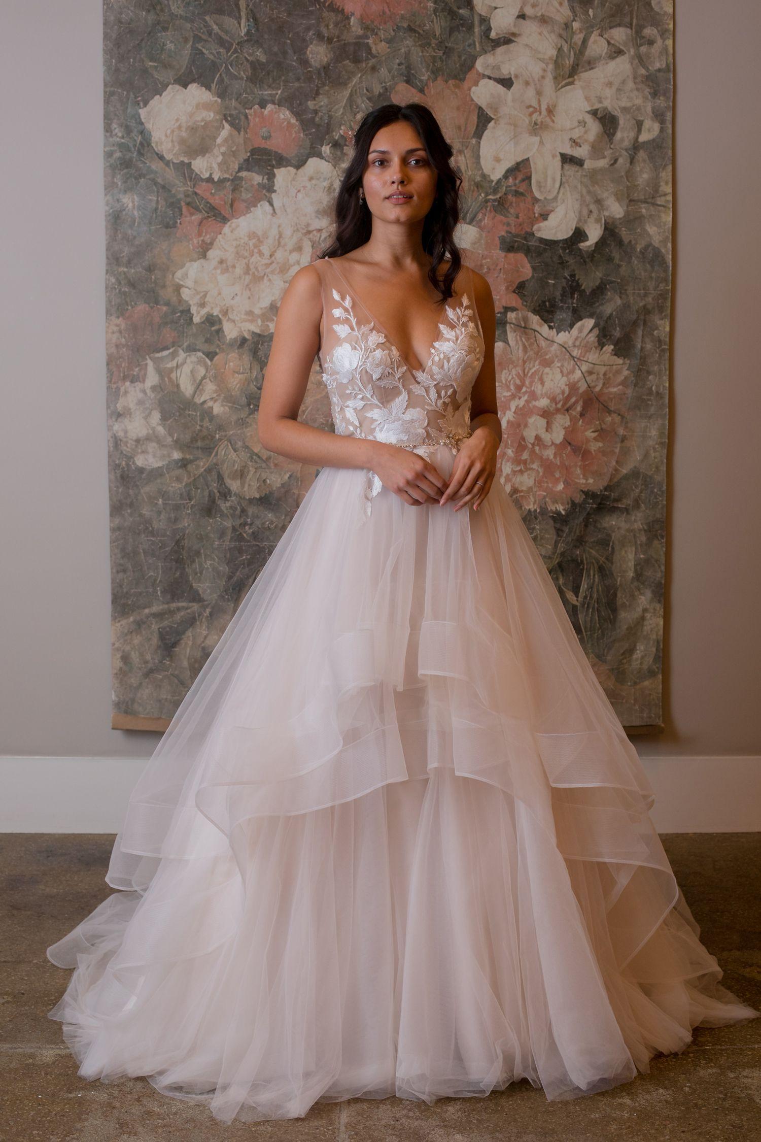 Photo of Illusion neckline wedding dress