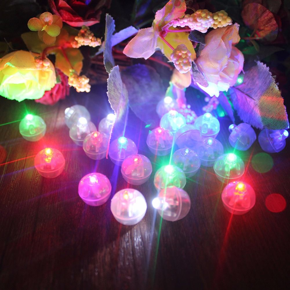 100pcs Round Led Rgb Flash Ball Lamps Balloon Lights Festival Holiday Light For Wedding Decorations Home Garden Party Supplies Party Supplies Near Me Balloon Lights Garden Party Supplies Wedding Balloon Decorations