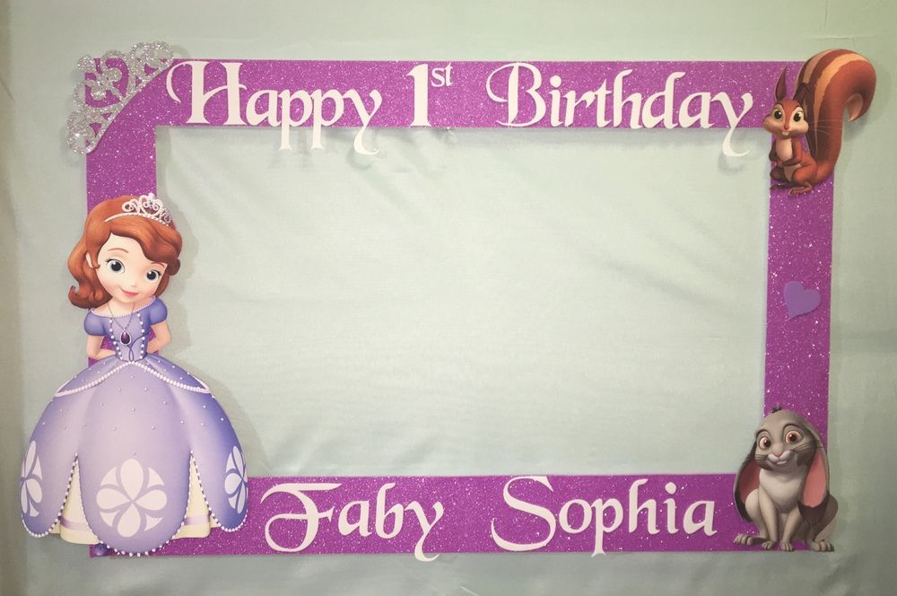 Photo Booth Frame To Take Pictures Sofía The First Birthday | Photo ...