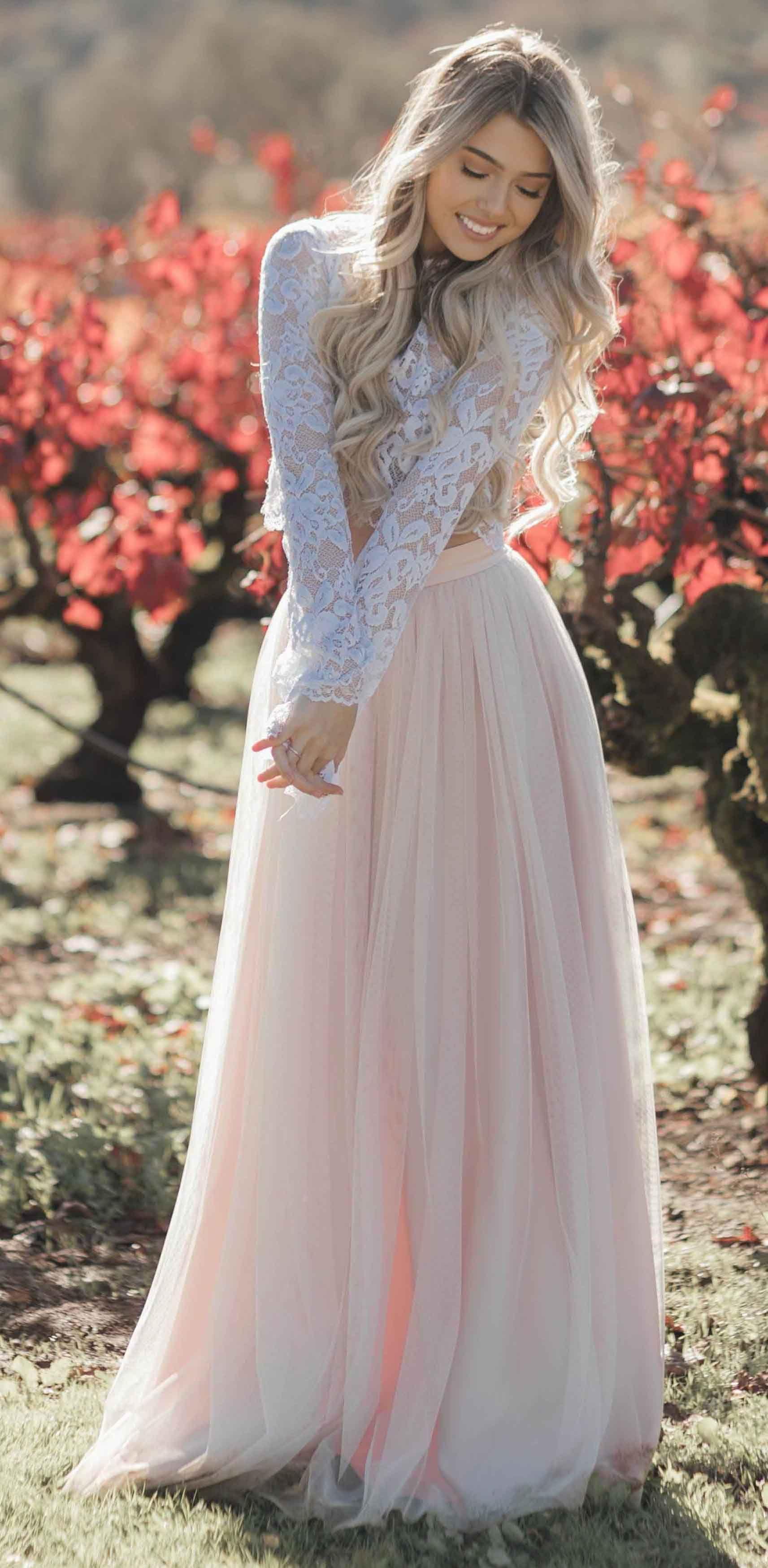 Blush Pink Wedding Dresses Country Weding Dresses Bohemian Wedding Dress Rustic W Long Sleeve Wedding Dress Lace Blush Pink Wedding Dress Online Wedding Dress [ 3497 x 1713 Pixel ]