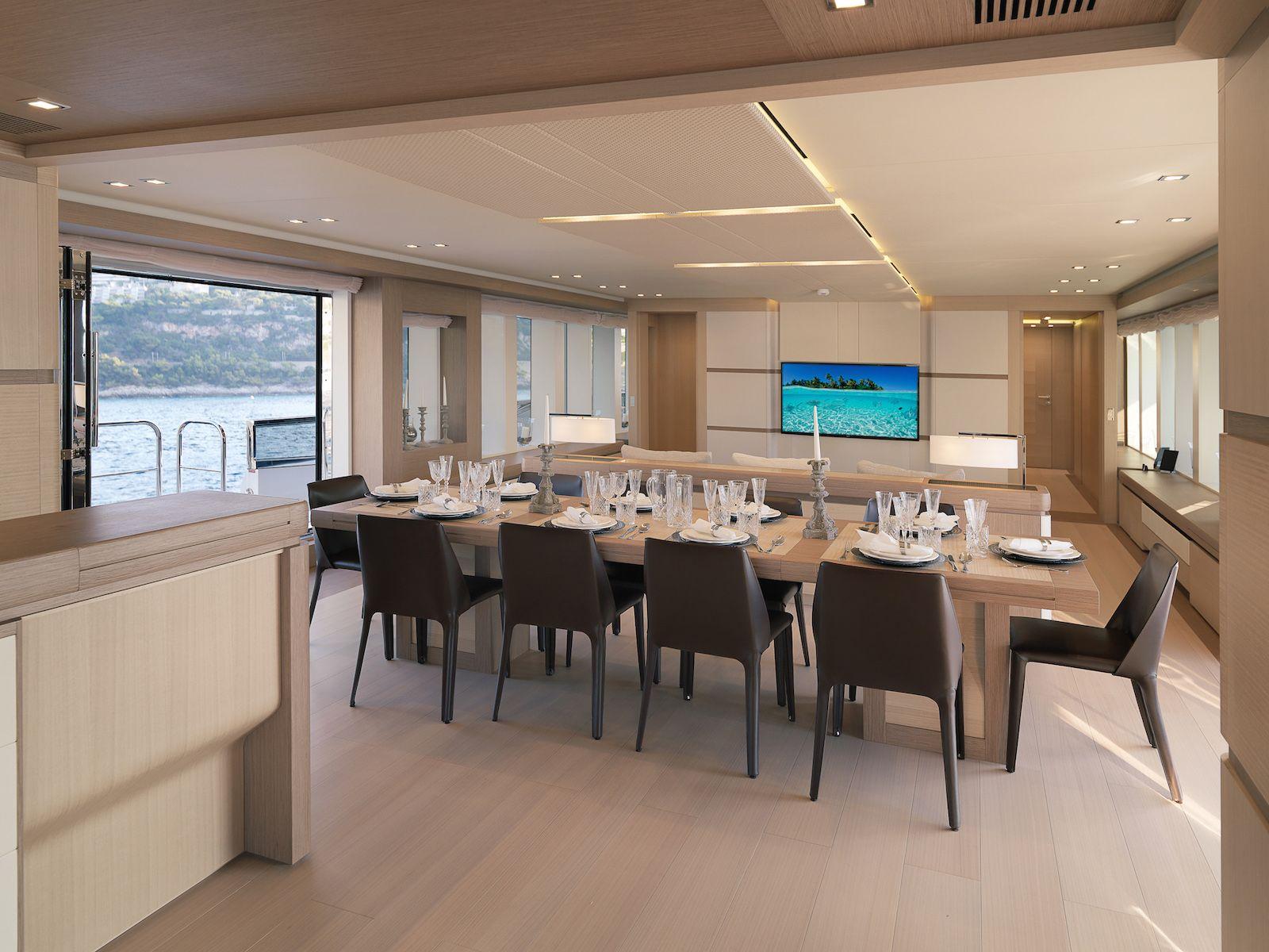 Luxury superyacht keyla interior by hot lab luxury yacht charter - Hot Lab Yacht Design Divine 40m