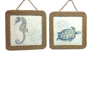 Love this Nautical Rope Plaque - Set of Two by Fancy That Gift & Décor on #zulily! #zulilyfinds
