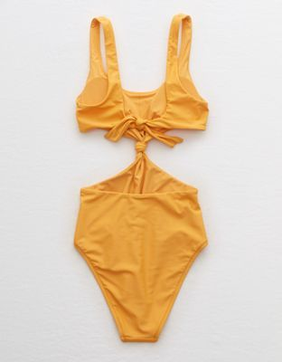 7c10d4af3f4 Aerie Twist Cutout One Piece Swimsuit by American Eagle Outfitters | One  Piece, love