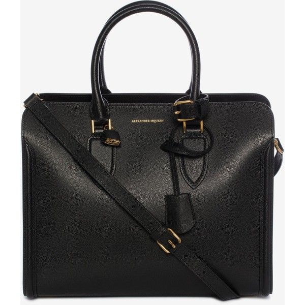 Alexander McQueen Heroine Open Tote (£1,345) ❤ liked on Polyvore featuring bags, handbags, tote bags, black, zip tote bag, studded purse, tote handbags, double zip purse and double zip tote bag