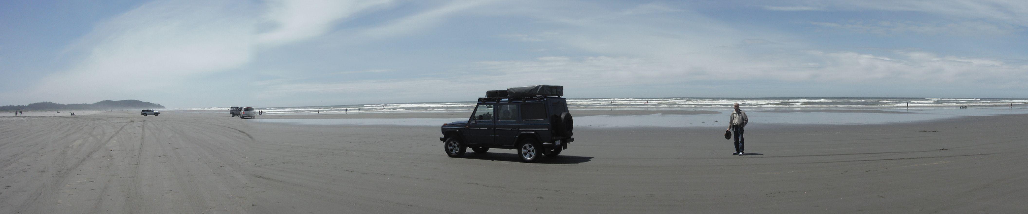 Beach sand Ocean Mercedes Benz 300GD Gelandewagen G wagon G